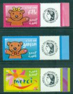 France 2001 Announcements + Labels (3)MUH Lot36085 - France