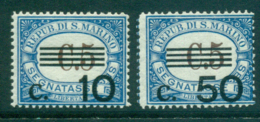 San Marino 1936 10c On 5c, 50c On 5c Postage Dues MUH Lot40273 - San Marino