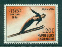 San Marino 1955 Ski Jumper MLH Lot40312 - Unused Stamps