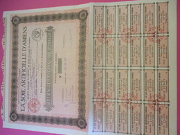 Action De 100 Francs Au Porteur Entièrement Libérée/La Soie Artificielle D'AMIENS/ Amiens /1927    ACT200 - Textil