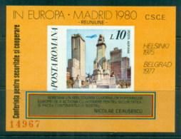 Romania 1980 ESCG Conference, Plaza Mayor IMPERF MS MUH - 1948-.... Republics