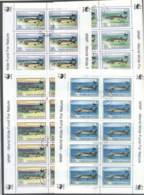 Romania 1994 WWF Sturgeon, Fish 4x Sheetlet CTO - 1948-.... Republics