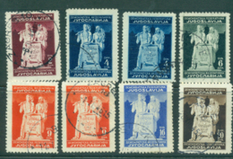 Yugoslavia 1945 Labor & Agriculture Asst (8) FU Lot40374 - Yugoslavia