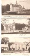 3 CP. De 's Gravenwezel - Château (2 Vues) Et Kattenhof - Hoelen 322-335-385 En 1902 - Kapellen