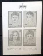 Liechtenstein 2011 Portraits, Black Print MS MUH - Liechtenstein