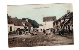 CPA 36 - Saint Aubin - Le Bourg , Belle Animation, Colorisé - Autres Communes
