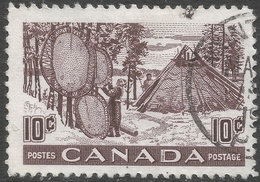 Canada. 1950 Drying Furs. 10c Used. SG 432 - 1937-1952 Reign Of George VI