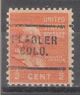 USA Precancel Vorausentwertung Preo, Locals Colorado, Flagler 703 - Vereinigte Staaten