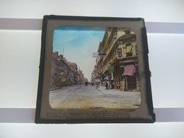 MONTREAL ST JAMES STREET  CANADA   Plaque De Verre GLASS SLIDE CIRCA EARLY 1900 - Diapositivas De Vidrio