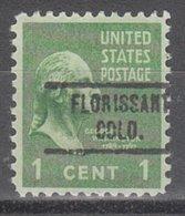 USA Precancel Vorausentwertung Preo, Locals Colorado, Florissant 734 - Vereinigte Staaten