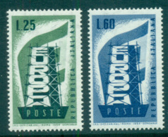Italy 1956 Europa, Scaffold MUH Lot65269 - 6. 1946-.. Republic