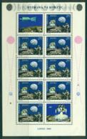 Poland 1969 Moon Landing Sheetlet (small Damage At Bottom Rt) MUH Lot35536 - 1944-.... Republic