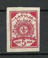 LETTLAND Latvia 1919 Fake Alte Fälschung * - Letland