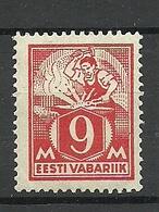 Estland Estonia 1923 Michel 38 A Blacksmith MNH - Estonie