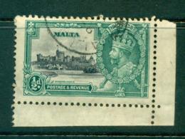 Malta 1935 Silver Jubilee 1/2d Broken Flag Pole FU Lot55014 - Malta