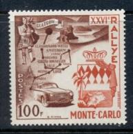 Monaco 1956 Monte Carlo Rally MUH - Unclassified