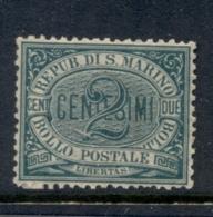 San Marino 1877-99 Numeral 2c Green MLH - San Marino
