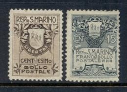 San Marino 1907-10 Coat Of Arms MLH - San Marino