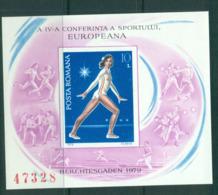 Romania 1979 Nadia Comaneci European Sports Conf. IMPERF MS MUH Lot58760 - 1948-.... Republics