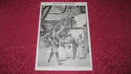 TOUR EIFFEL - EXPOSITION DE 1889 - LES ETRANGERS A PARIS - UNE VISITE A LA TOUR - GRAVURE DE 1890. - Stiche & Gravuren