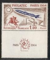 France 1964 Philatec Paris, Rocket + Label MUH - France