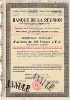 Th7 BANQUE : REUNION : Action De 375 Frs CFA1951N° 2 - Other