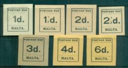 Malta 1925 Postage Dues Asst MLH - Malta