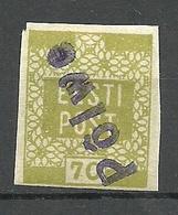 ESTLAND Estonia 1919 Provisional Line Cancel PÕLVA Auf Michel 4 - Estonie