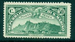 San Marino 1931 50c Blue Green Airmail MLH Lot40306 - San Marino