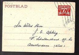 Chess Geuz. # 29b R'dam 1944 Apking Fanny Scholtenstraat (EG-22) - Entiers Postaux