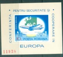 Romania 1977 Boeing 707 Over Bucharest Airport Imperf MS MUH - 1948-.... Republics