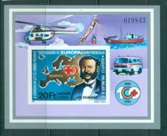 Hungary 1981 Red Cross IMPERF MS MUH Lot58812 - Hungary
