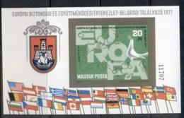 Hungary 1977 ESCC MS IMPERF MUH - Hungary