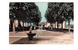 CPA 36 - Saint Aubin - La Place , Animée , Landeau Au 1er Plan - Autres Communes