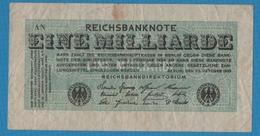 DEUTSCHES REICH 1 Milliarde Mark 20.10.1923Serie # AN KM# 122 - [ 3] 1918-1933 : Weimar Republic