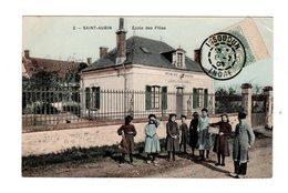 CPA 36 - Saint Aubin - Ecole Des Filles , Belle Animation - Autres Communes