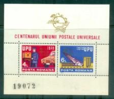 Romania 1974 Centenary Of UPU MS MUH Lot76417 - 1948-.... Republics