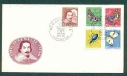 Switzerland 1956 Pro Juventute Moths, Insects FDC Lot50395 - Switzerland
