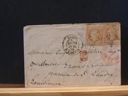 82/830   LETTRE   PARIS   ETOILE NR. 8 RUE D'ANTIN   TIMBRES PAIRE  NR. 23 POUR LOUISIANNE - 1849-1876: Classic Period