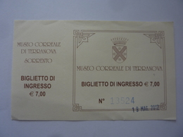 """Biglietto """"MUSEO CORREALE DI TERRANOVA SORRENTO"""" - Tickets D'entrée"""