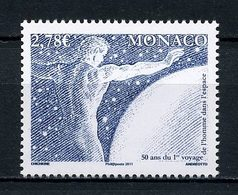 MONACO 2011 N° 2798 ** Neuf MNH Superbe Espace Space Premier Homme Gagarine Cosmonaute Composition - Monaco