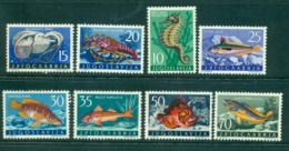 Yugoslavia 1956 Fish Marine Life To 70d MLH Lot40465 - Yugoslavia