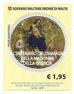2017 - Sovrano Militare Ordine Di Malta 1379 Madonna Della Quercia - Quadri