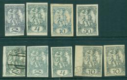 Slovenia 1919-20 Newspaper Stamps Asst(9) MLH/FU Lot40327 - Slovenia