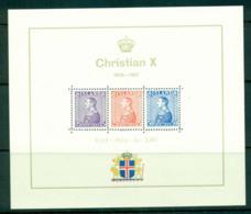 Iceland 1937 Christian X Anniv. MS MUH Lot57404 - 1918-1944 Autonomous Administration