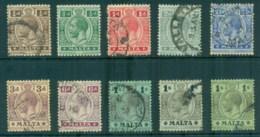 Malta 1914-21 KGV King George V Asst FU - Malta