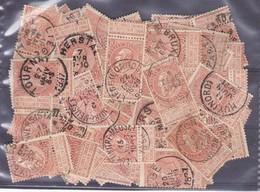 N° 57 : 100 Timbres Oblitérés - 1893-1900 Fine Barbe