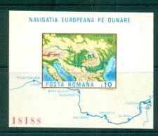 Romania 1977 Danube Commission IMPERF MS MUH Lot58754 - 1948-.... Republics