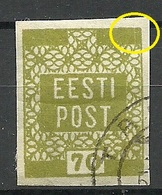 ESTLAND Estonia 1919 Michel 4 ERROR Abart Variety O - Estonie