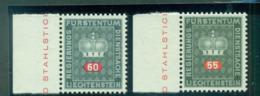 Liechtenstein 1968 55,60rp Officials, White Paper MUH Lot58451 - Liechtenstein